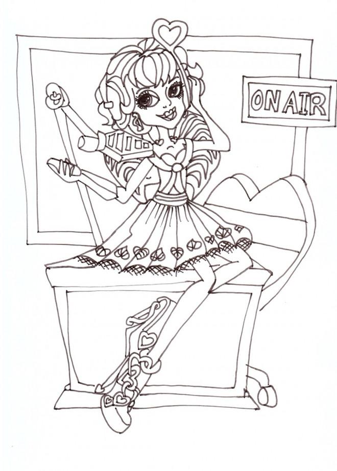 Coloriage et dessins gratuits Monster High Operetta en direct à imprimer