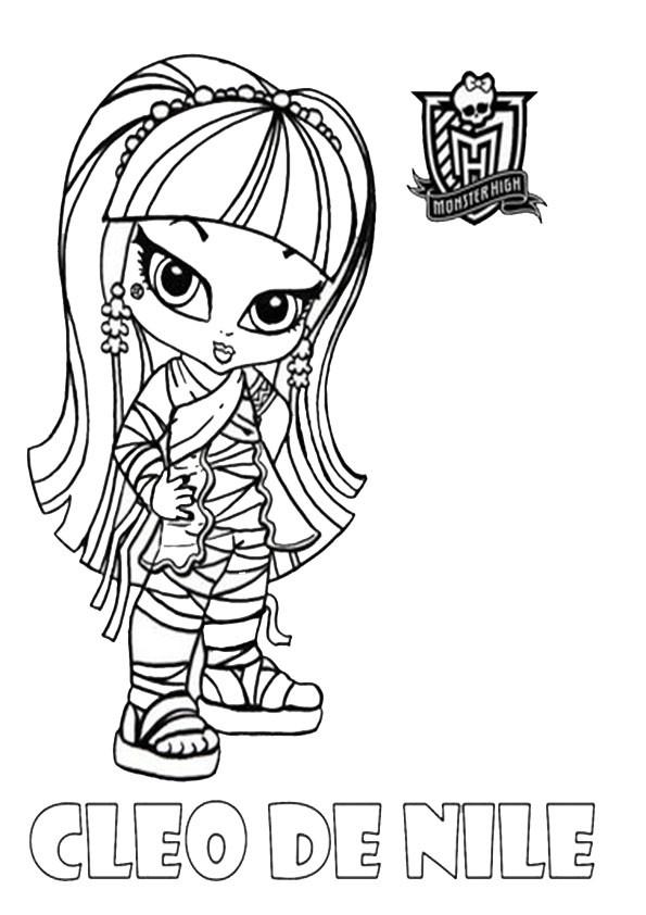 Coloriage et dessins gratuits Monster High portrait de Draculaura bébé à imprimer