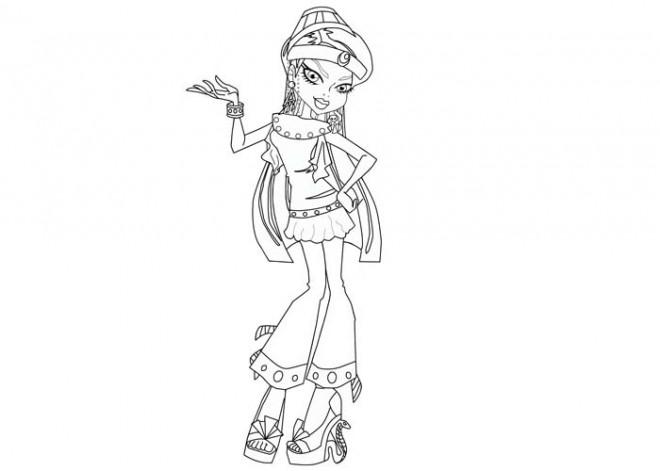Coloriage et dessins gratuits Monster High pour fille à imprimer