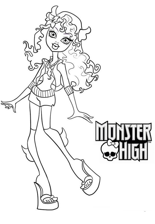 Coloriage et dessins gratuits Monster High Rochelle Goyle à imprimer