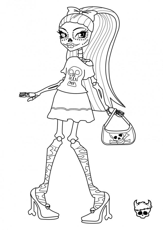 Coloriage et dessins gratuits Monster High Skelita Calaveras à imprimer