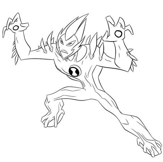 Coloriage Ben 10 Alien Force dessin