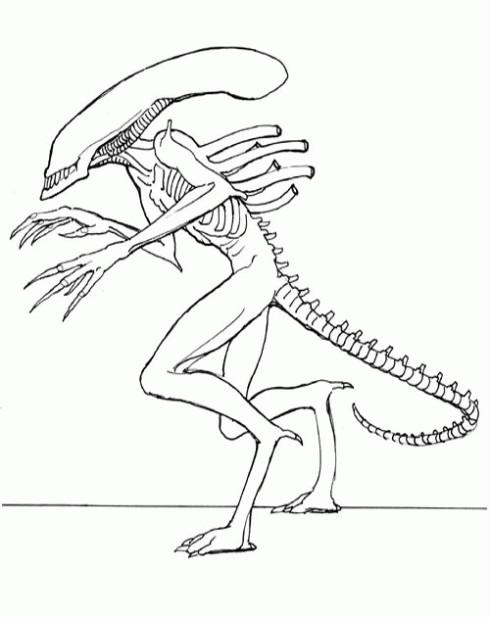 Coloriage Dessin Et L Extraterrestre.Coloriage Dessin Extraterrestre Dessin Gratuit A Imprimer