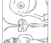 Coloriage et dessins gratuit Les Monstres personnages à imprimer