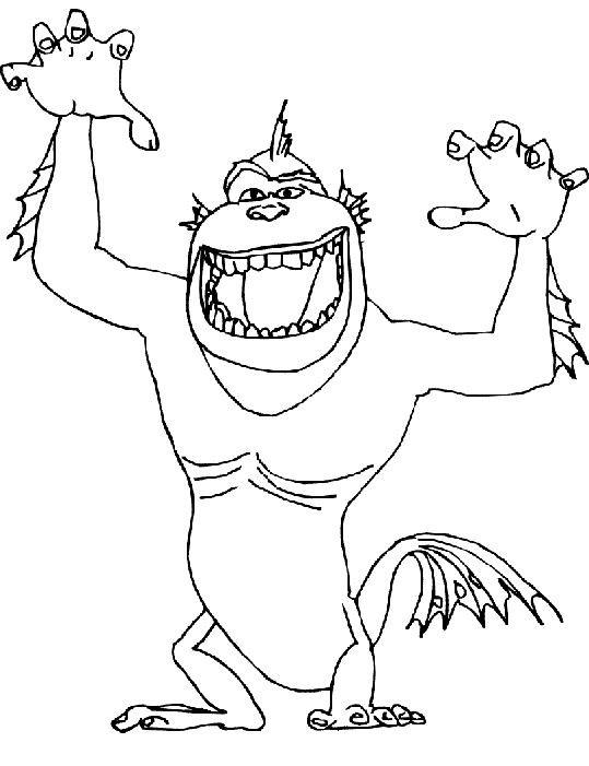 Coloriage maillon manquant qui fait peur dessin gratuit imprimer - Dessin anime qui fait peur ...