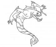 Coloriage et dessins gratuit Monstre contre Alien couleur à imprimer