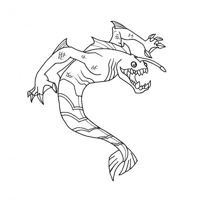 Coloriage et dessins gratuits Monstre contre Alien couleur à imprimer