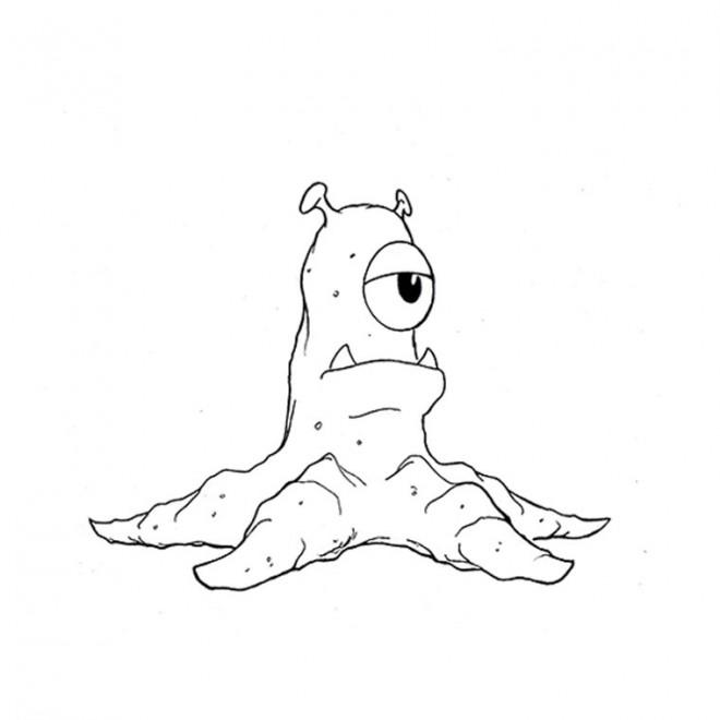 Coloriage et dessins gratuits Monstre contre Alien dessin pour enfant à imprimer