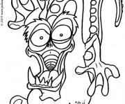Coloriage et dessins gratuit Monstre dessin pour enfant à imprimer