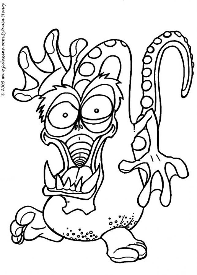Coloriage monstre dessin pour enfant dessin gratuit imprimer - Coloriage de monstres ...