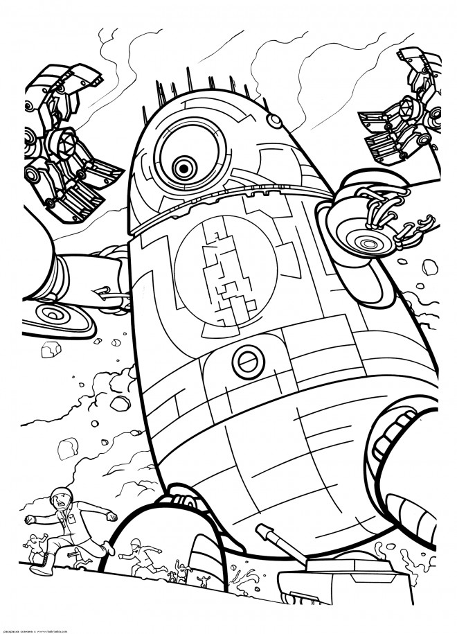 Coloriage et dessins gratuits Robot Probe à imprimer