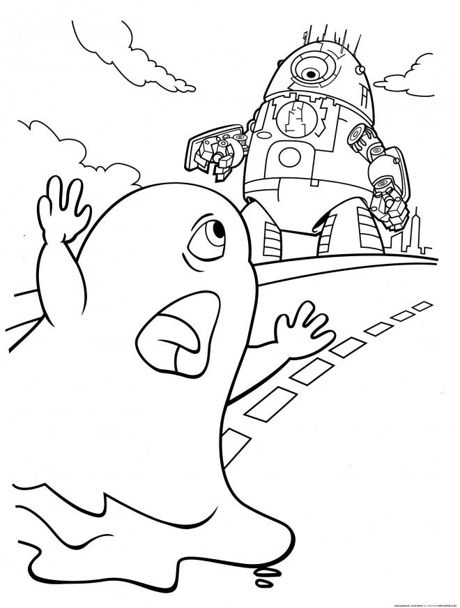Coloriage et dessins gratuits Robot Probe et B.O.B à imprimer