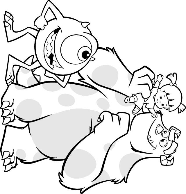 Coloriage et dessins gratuits Bob et Jacque de Monster et Cie à imprimer