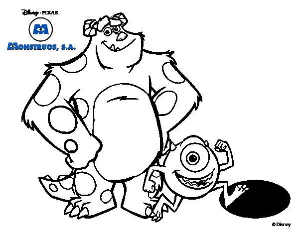Coloriage et dessins gratuits Bob et Jacques de Monstre et Cie à imprimer