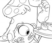 Coloriage Bob et Jacques dessin monstres