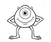Coloriage et dessins gratuit Cie souriant en ligne à imprimer