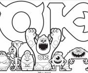 Coloriage et dessins gratuit Dessin de Monstre et Cie à imprimer