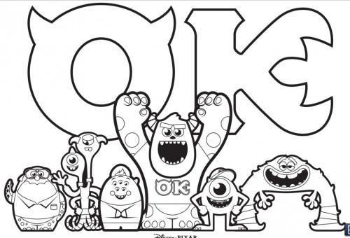 Coloriage et dessins gratuits Dessin de Monstre et Cie à imprimer
