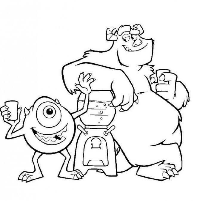 Coloriage et dessins gratuits Jacques et Bob boivent de l'eau à imprimer