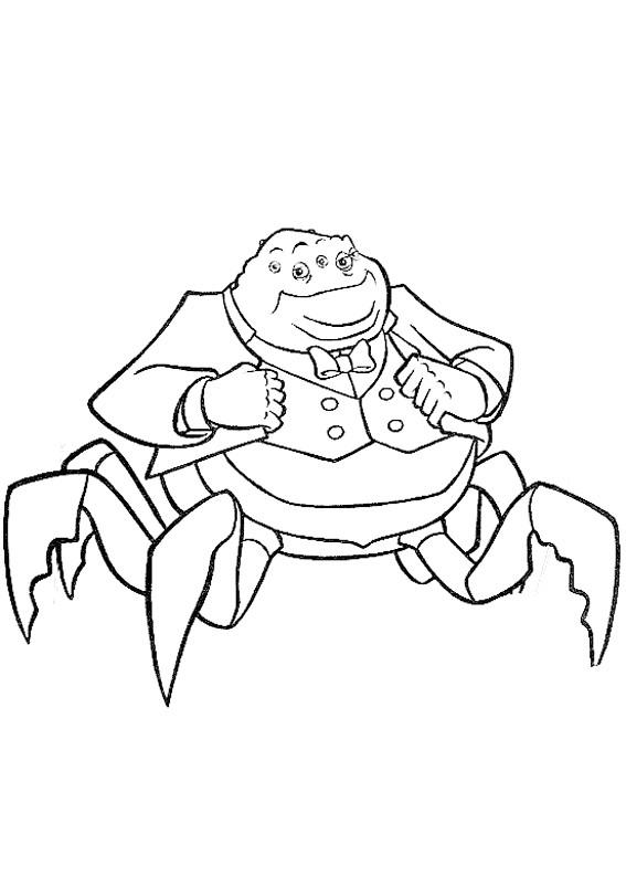 Coloriage et dessins gratuits Le monstre Ted en costume à imprimer