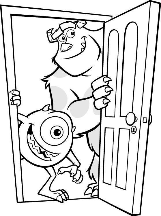 Coloriage et dessins gratuits Les monstres rigolos à imprimer