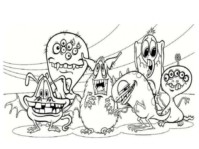 Coloriage et dessins gratuits Monstre academy en ligne à imprimer