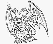 Coloriage Monstre avec cornes fait peur