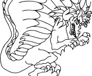 Coloriage Monstre Dragon en ligne