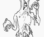 Coloriage Monstre effrayant en ligne