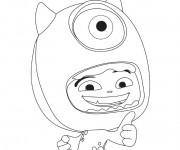 Coloriage et dessins gratuit Monstre et Cie Bob et enfant à imprimer