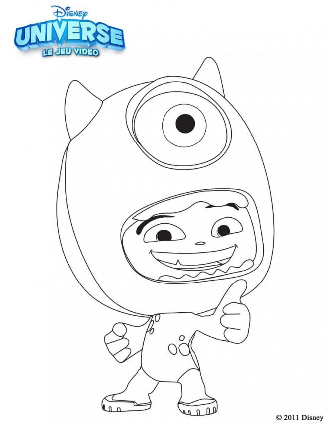 Coloriage et dessins gratuits Monstre et Cie Bob et enfant à imprimer
