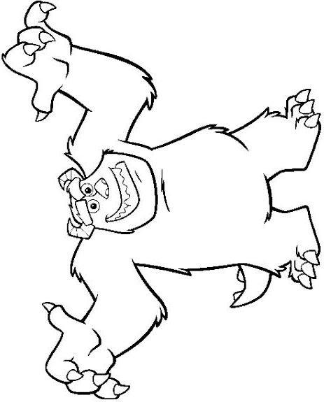Coloriage et dessins gratuits Monstre et Cie Jacques qui fait peur à imprimer