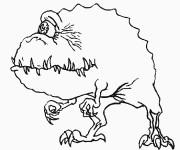 Coloriage Monstre et Cie personnage qui fait peur