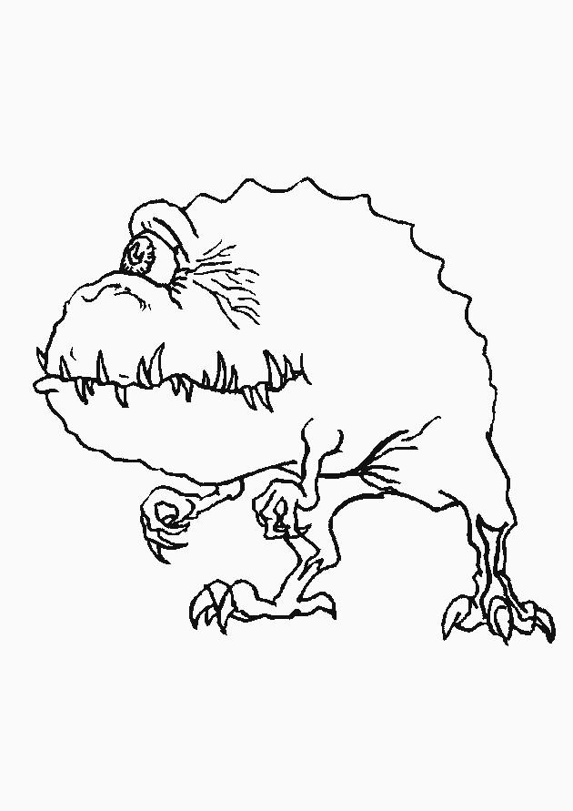 Coloriage et dessins gratuits Monstre et Cie personnage qui fait peur à imprimer