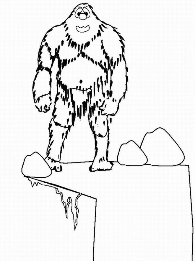 Coloriage et dessins gratuits Monstre et Cie Yéti en ligne à imprimer