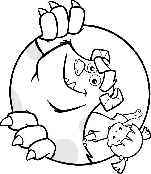 Coloriage monstre et compagnie facile en ligne dessin gratuit imprimer - Dessin de monstre et compagnie ...