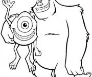 Coloriage et dessins gratuit Monstre et compagnie magique à imprimer