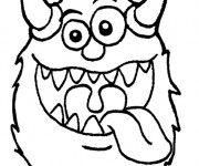 Coloriage Monstre humoristique