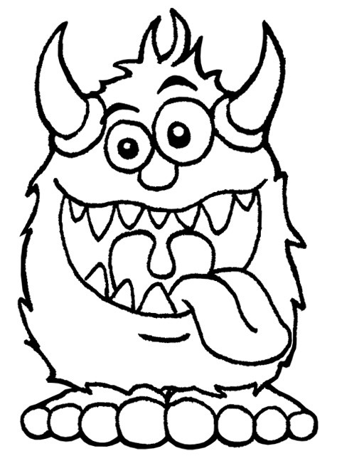 Coloriage Monstre Humoristique Dessin Gratuit à Imprimer