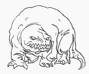 Coloriage Monstre qui fait peur