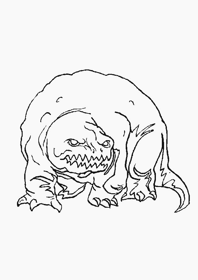 Coloriage et dessins gratuits Monstre qui fait peur à imprimer
