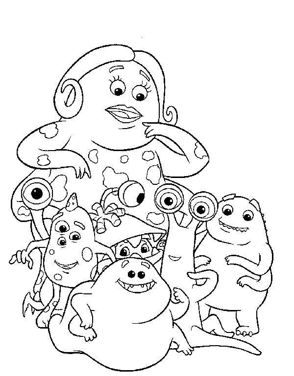 Coloriage et dessins gratuits Monstres et compagnie à télécharger à imprimer