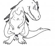 Coloriage Rex le dinosaure