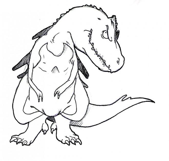 Coloriage et dessins gratuits Rex le dinosaure à imprimer