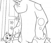Coloriage Rouh et monstre Jacques