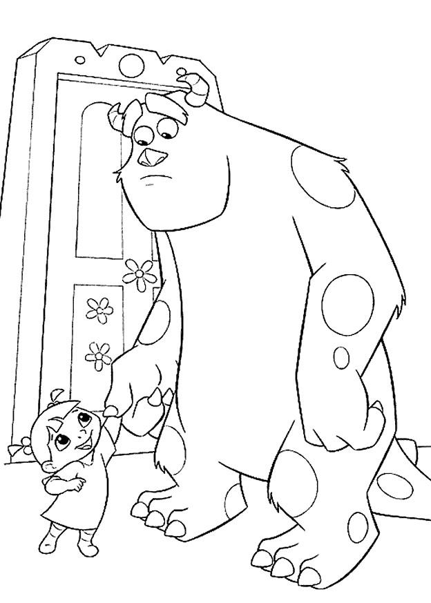 Coloriage et dessins gratuits Rouh et monstre Jacques à imprimer