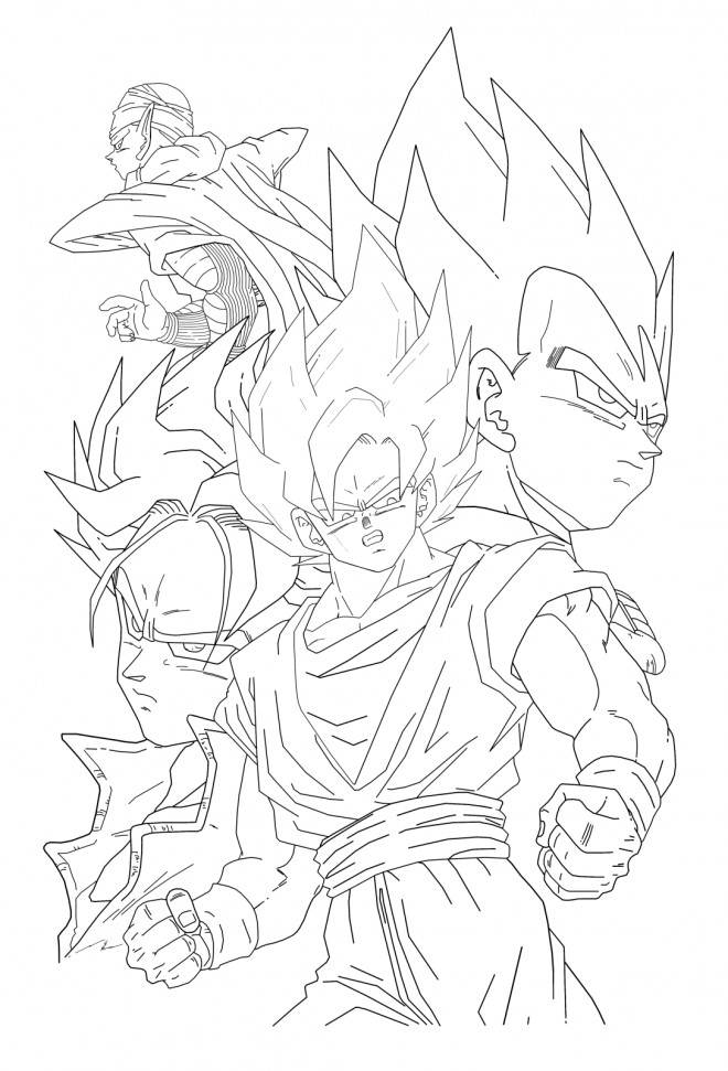 Coloriage dessin de dragon ball z facile dessin gratuit - Coloriage gratuit dragon ball z ...