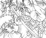 Coloriage et dessins gratuit Dessin Naruto en couleur à imprimer
