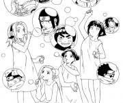 Coloriage et dessins gratuit Dessin Naruto pour fille à imprimer