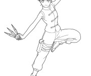 Coloriage Dessin Naruto Tenten